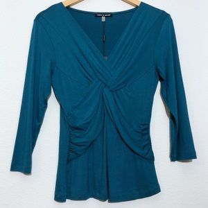 Cable and Gauge Teal Top